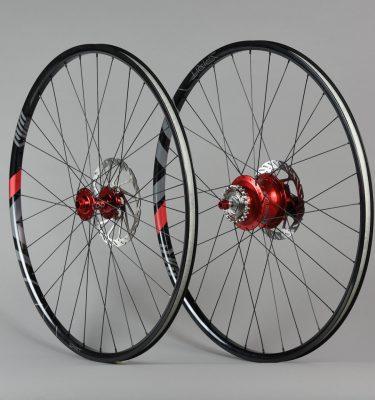 Paire de roues 29 pouces Rohloff aluminium Rouge