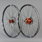 Paire de roues 29 pouces Rohloff carbone Orange